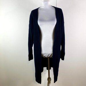 everlane women's black long wool sweater SZ M